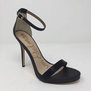 SAM EDELMAN Eleanor black strappy heels